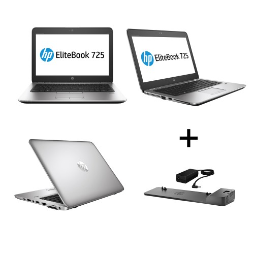 HP Elitebook 725 G3 AMD A10-8700B, 8GB RAM, 128GB SSD, Win10 Pro, 12,5 Zoll Full HD IPS